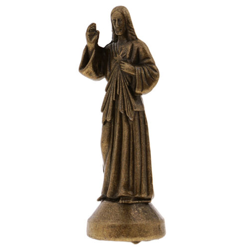 Mini Jesus Statue Alloy Home Dekoration Figur für Gläubige 1,96 /'/' Bronze