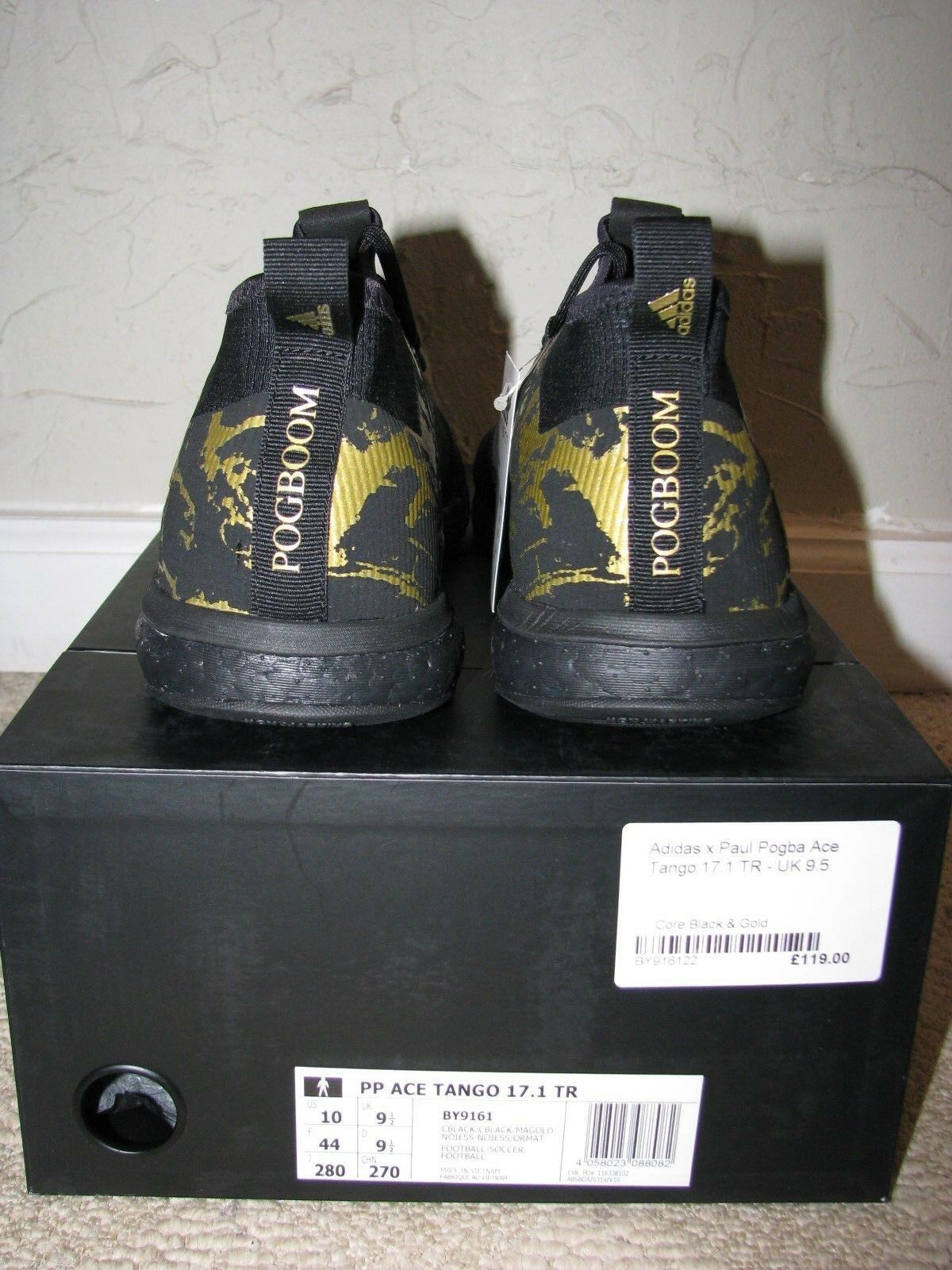 Paul Pogba X adidas Ace Tango 17.1 TR Boost Black Mens Size 10 DS By9161  for sale online  3f7c1a0898f24