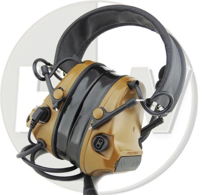 d96729026da AIRSOFT TOMTAC COMTAC III 3 HEADSET MIC BOOM RADIO PELTOR DESIGN TAN LEFT  RIGHT