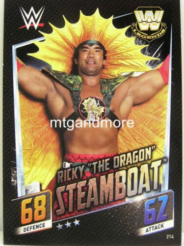 "#214 Ricky /""The Dragon/"" barco de vapor Slam Attax then now Forever"