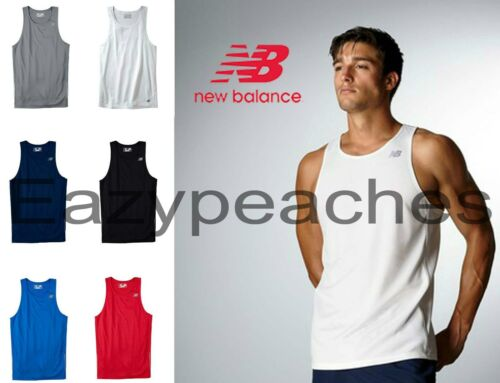 New Balance Mens TEMPO Running Singlet Gym Tank Top T-Shirt dri-fit S-3XL N9138