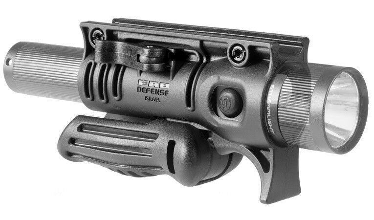 FFA-S FAB Defense Two-Position Tactical Fore Grip &  Flashlight Mount