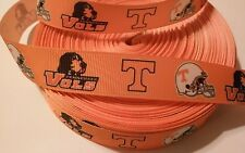 """Tennessee inspired 7/8"""" Orange Grosgrain Ribbon - By The Yard - USA Seller"""