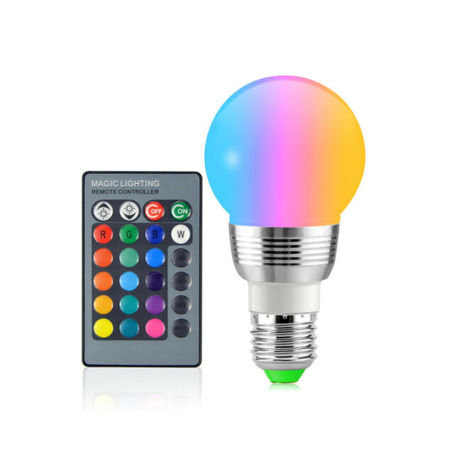 E27 Colorful RGB LED Magic Bulbs Lamp For Holiday IR Remote Control Night Light