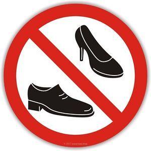 Bitte Schuhe Ausziehen aufkleber bitte schuhe ausziehen 100mm boot yacht keine