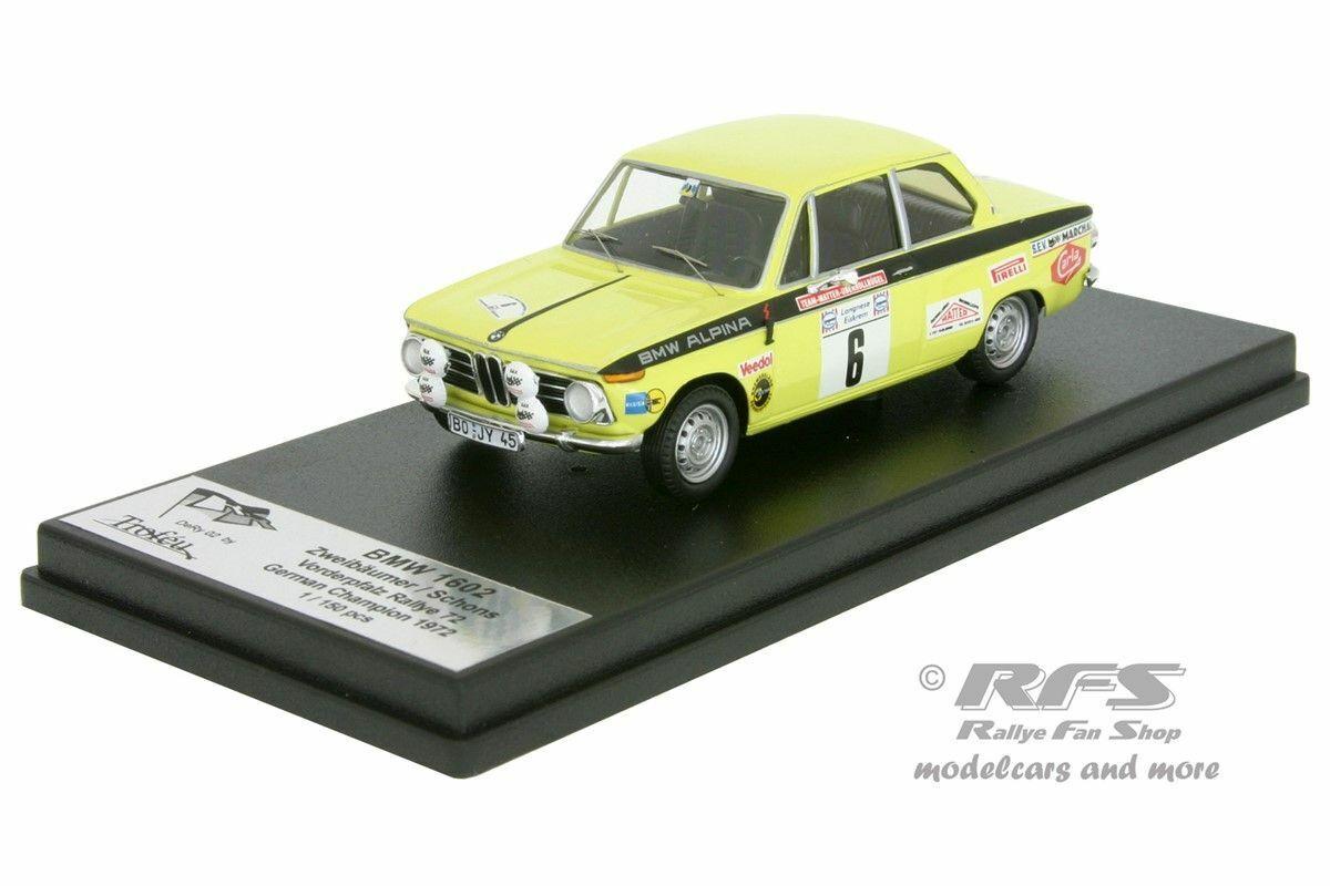 BMW 1602 RALLYE FRONT Palatinate 1972 zweibäumer Alpina Matt 1 43 Trofeu Y 002
