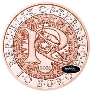 Piece-10-euros-commemorative-AUTRICHE-2018-Raphael-L-039-Ange-Guerisseur-Cuivre