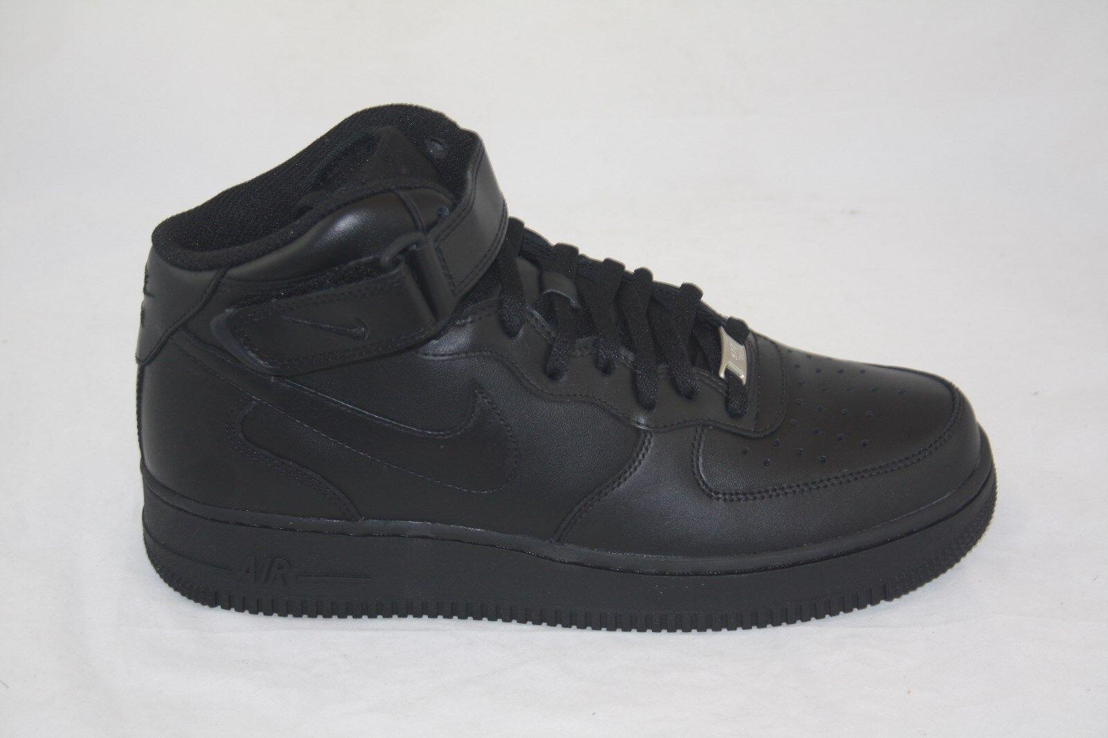 Men's Nike Air Force 1 Mid '07 315123-001 Black Black    shoes