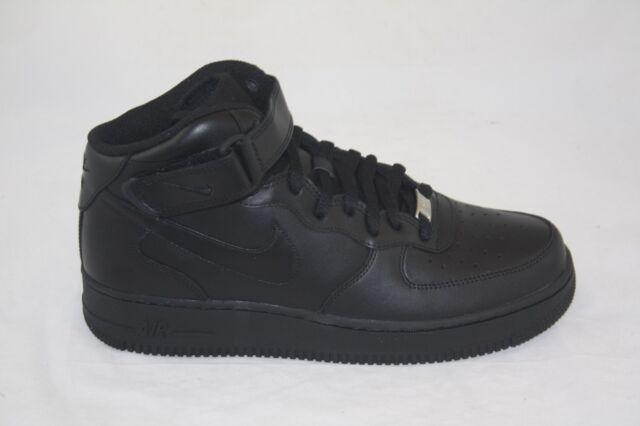 Men's Nike Air Force 1 Mid '07 315123 001 BlackBlack Shoes size 9.5