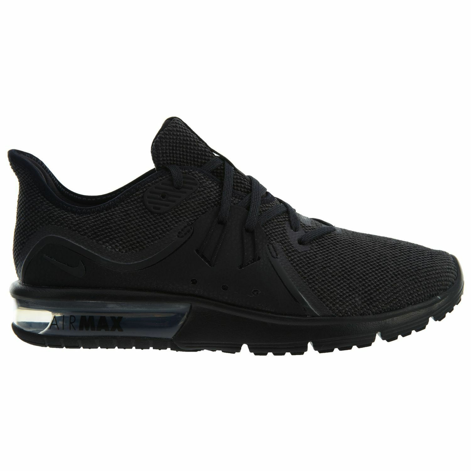 Nike Air Max Sequent 3 Mens 921694-010 Black Stretch Knit Running Shoes Sz 11.5 Brand discount