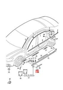 Genuine End Cap AUDI A6 Avant S6 Quattro 4G0853869AGRU