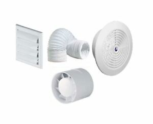 Bathroom/Showe<wbr/>r Inline Extractor fan kit with Timer Full Kit