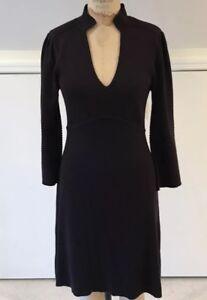 V-Neck-3-4-Wide-Sleeve-A-Line-Sweater-Dress