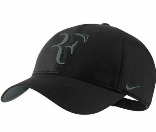 New Nike RF Roger Federer Hat Cap Black Tennis  Dri Fit 371202-011