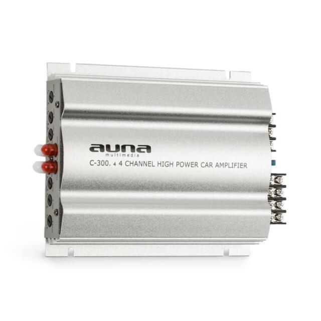Amplificador Potenica de 4 canales Para Coche 1200 V PMPO 300 V RMS -B-Stock