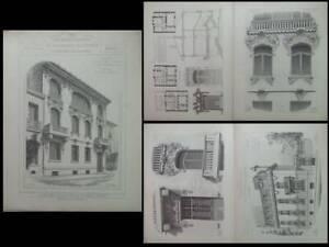 Consciencieux Paris, 32 Boulevard Arago - Gravures Architecture 1900 - Saint Raphael, Seasal La Qualité D'Abord