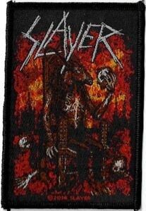 Official-Licensed-Merch-Woven-Sew-on-PATCH-Metal-Rock-SLAYER-Devil-on-Throne