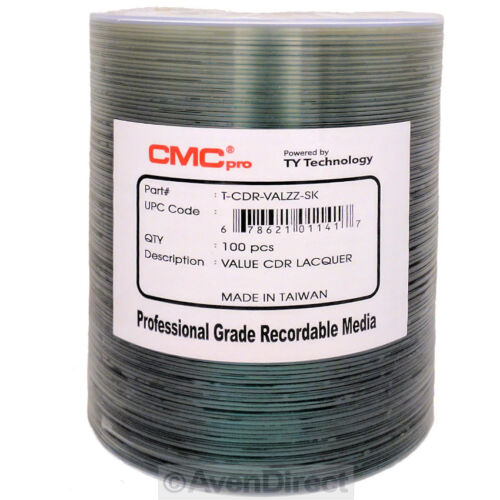600 CMC Pro 52X Value Silver Lacquer CD-R TY Technology [FREE SHIPPING]