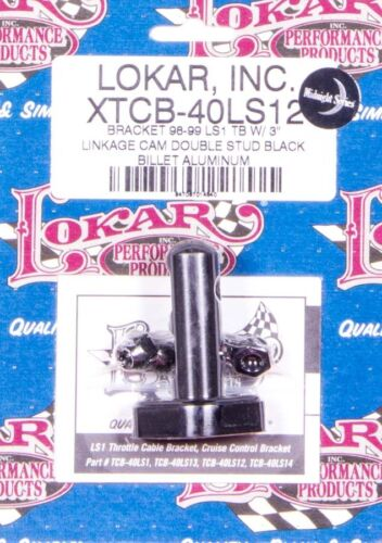 Lokar XTCB-40LS12 Black LS1 Throttle Cable /& Cruise Control Bracket 1998-1999 GM