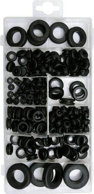 Durchführungs-Tüllen Sortiment Kabeldurchführung Gummitülle Craft-Equip 180 Tlg