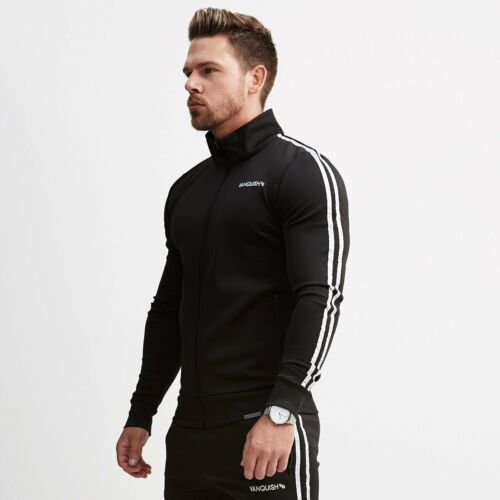 Men Sport Gym Sweatshirt Pants Suits Zipper Pullover Casual Sweatshirts Clothes