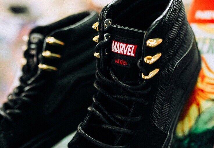 Marvel SK8-Hi Negro Panther Vans X para hombres /Mujer Talla 6.0 6.0 Talla nuevo f9e90c