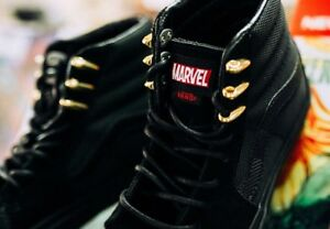 955deb3fc2 Vans x Marvel SK8-Hi Black Panther Men s SZ 5.5   Women s SZ 7.0 NEW ...
