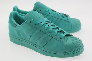 official photos dacf3 fca88 Image is loading Adidas-Men-Superstar-Adicolor-green-shock-mint-S80331