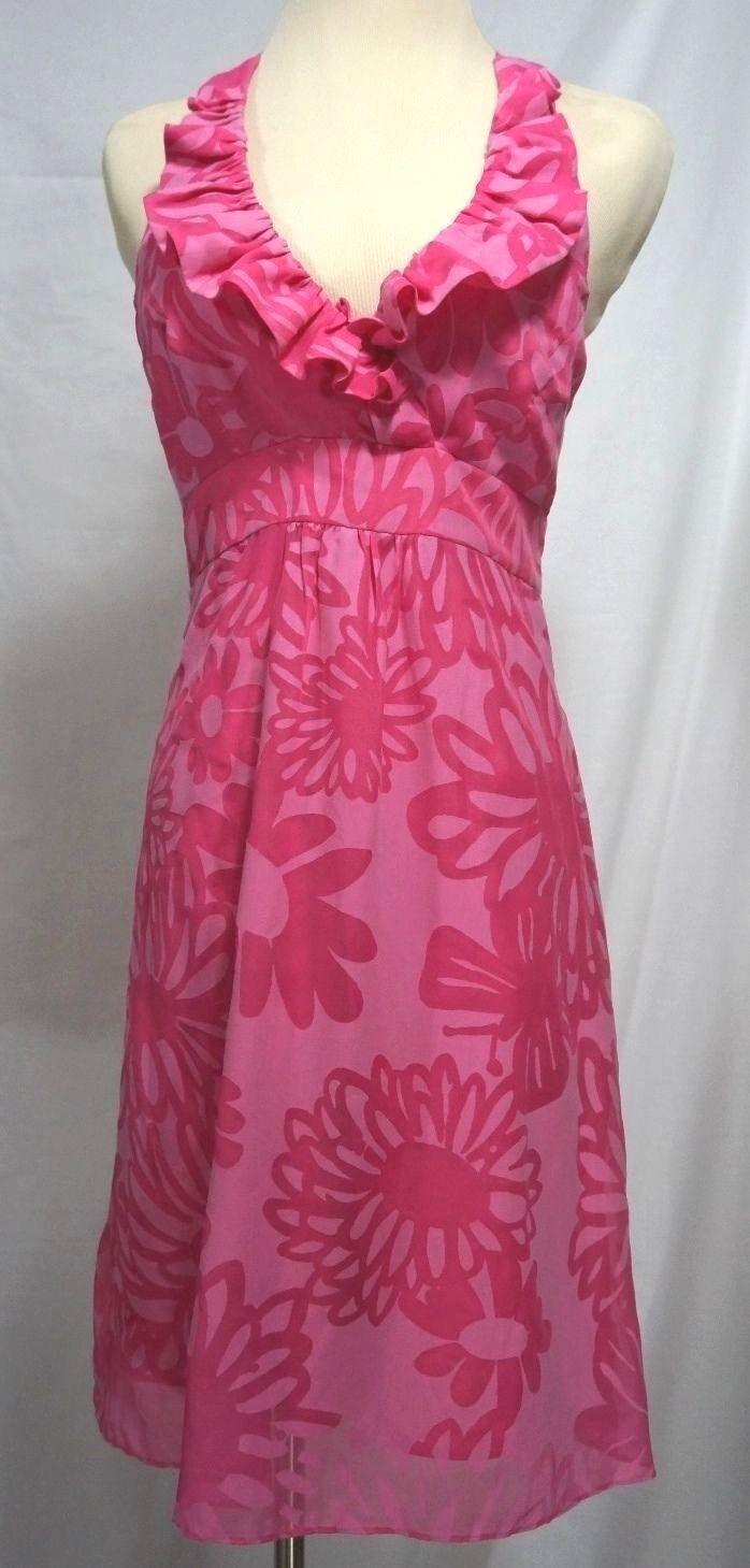 Lilly Pulitzer - Women's 0 - NWOT - Pink Floral Halter Sundress
