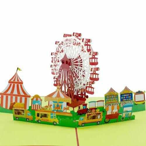 Ferris Wheel /& Carnival 3d pop up card