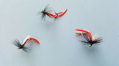 14 available 3 X HEATHERFLY DRY TROUT FLIES  size 10 12