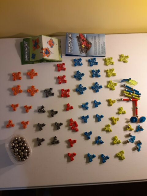 Lot 131 piece MagneXt magnetic building system with Specialty pieces Mega Bloks