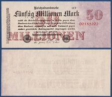 50 Millionen Mark  1923  KASSENFRISCH  FZ T  Ro.97 c