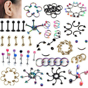 5pcs-lots-Cartilage-Upper-Ear-Stud-Tragus-Labret-Helix-Top-Ear-Bar-Bulk-NE