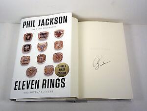 Phil-Jackson-Chicago-Bulls-Signed-Autograph-Eleven-Rings-1st-1st-HC-Book-COA