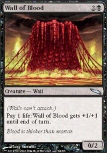 4 Wall of Blood ~ Near Mint Mirrodin 4x x4 Playset UltimateMTG Magic Black Card