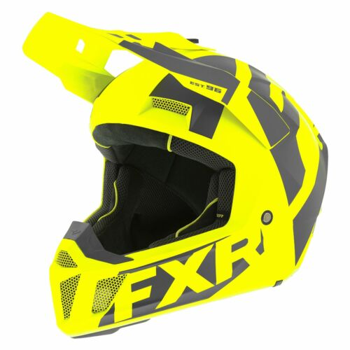 Hi Vis Charcoal All Sizes Fxr Clutch Cx Helmet Mx