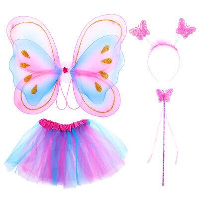 Pink  Princess Girls Play Costume Wand Headband and Skirt