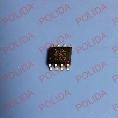 100PCS NE555 555 SOP Timers TI IC NEW