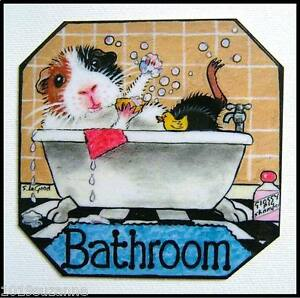 ORIG-DESIGN-GUINEA-PIG-BATHROOM-SIGN-FROM-ORIGINAL-PAINTING-BY-SUZANNE-LE-GOOD