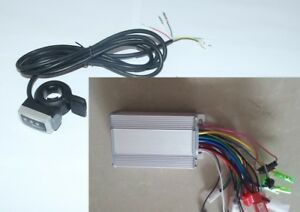 Electric-Bike-36V-350W-DC-Motor-3-Phase-Line-Brushless-Controller-amp-Throttle