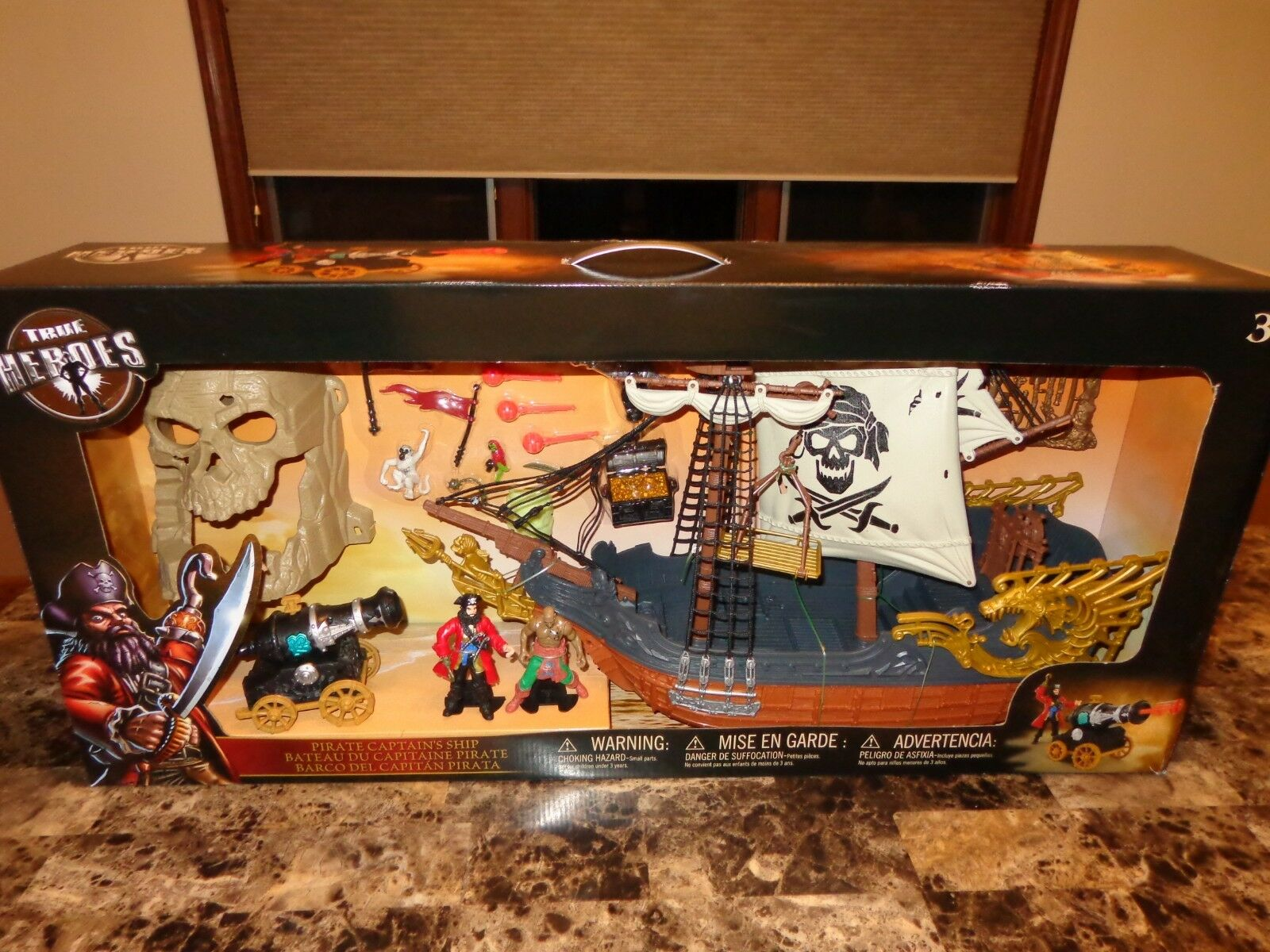 True Heroes Rare Pirate Captain Ship Playset Toy Set Toy's R Us Exclusive NEW