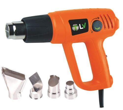 2000W Hot Air Heat Gun Dual Temperature Paint Stripper DIY Tool 4 Nozzle UK