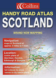 Handy-Road-Atlas-Scotland-Incl-Aberdeen-Dundee-Edinburgh-Glasgow-str-plans