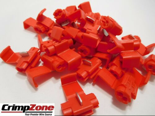 With Stop 22-16 Instant Tap Connector For 22-16 AWG Wire  25 PCS Made In USA