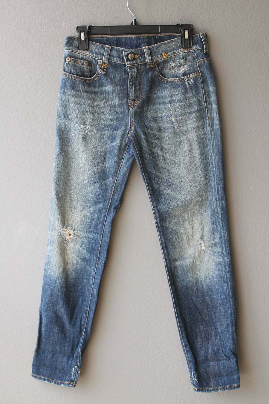 R13 WOMENS JEANS RELAXED SKINNY blueE SIZE 24 NEW