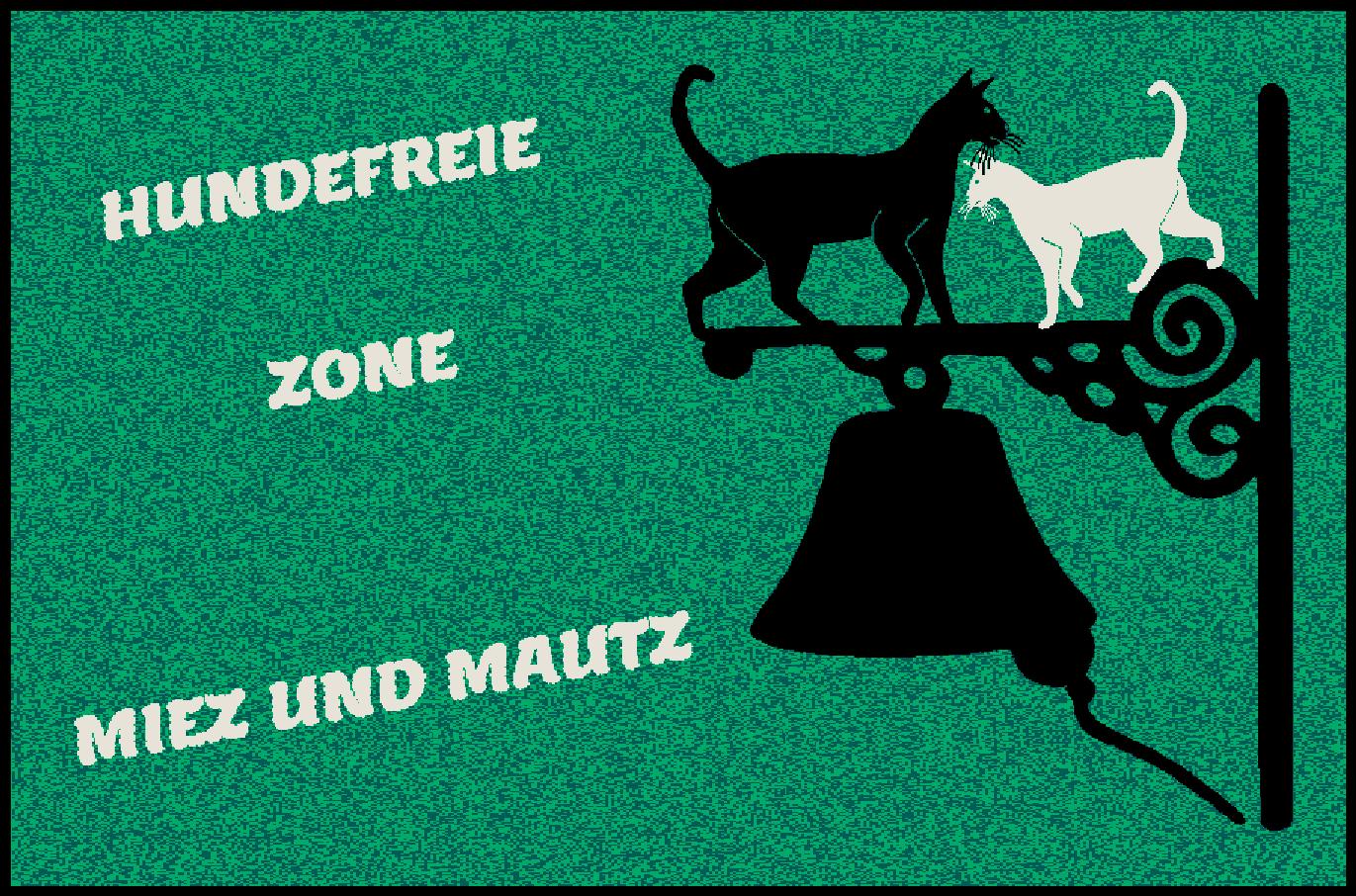 Fußmatte mit Namen Napfunterlage Katzenmatte  90x60 cm    Design 27180437 | Bunt,  038a9d