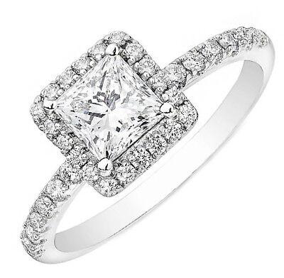 18k Weiss Gold Verlobungsring Mit Echtem Diamant 2.50 Karat Gia Zertifiziert Diversified Latest Designs Fine Jewelry