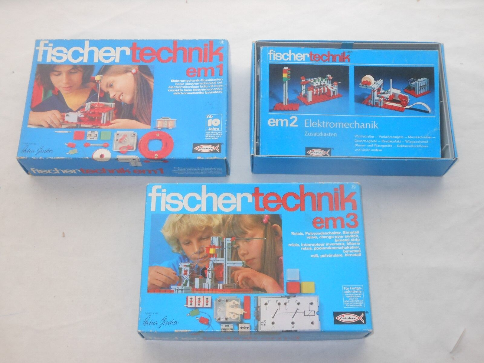 Fischertechnik Lot Sets - Elektromechanik -em1+em2+em3 - Emb.orig - L38