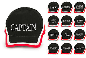 Captain Baseball cap new cotton Mens Women with various logos red ... f5d1747d226